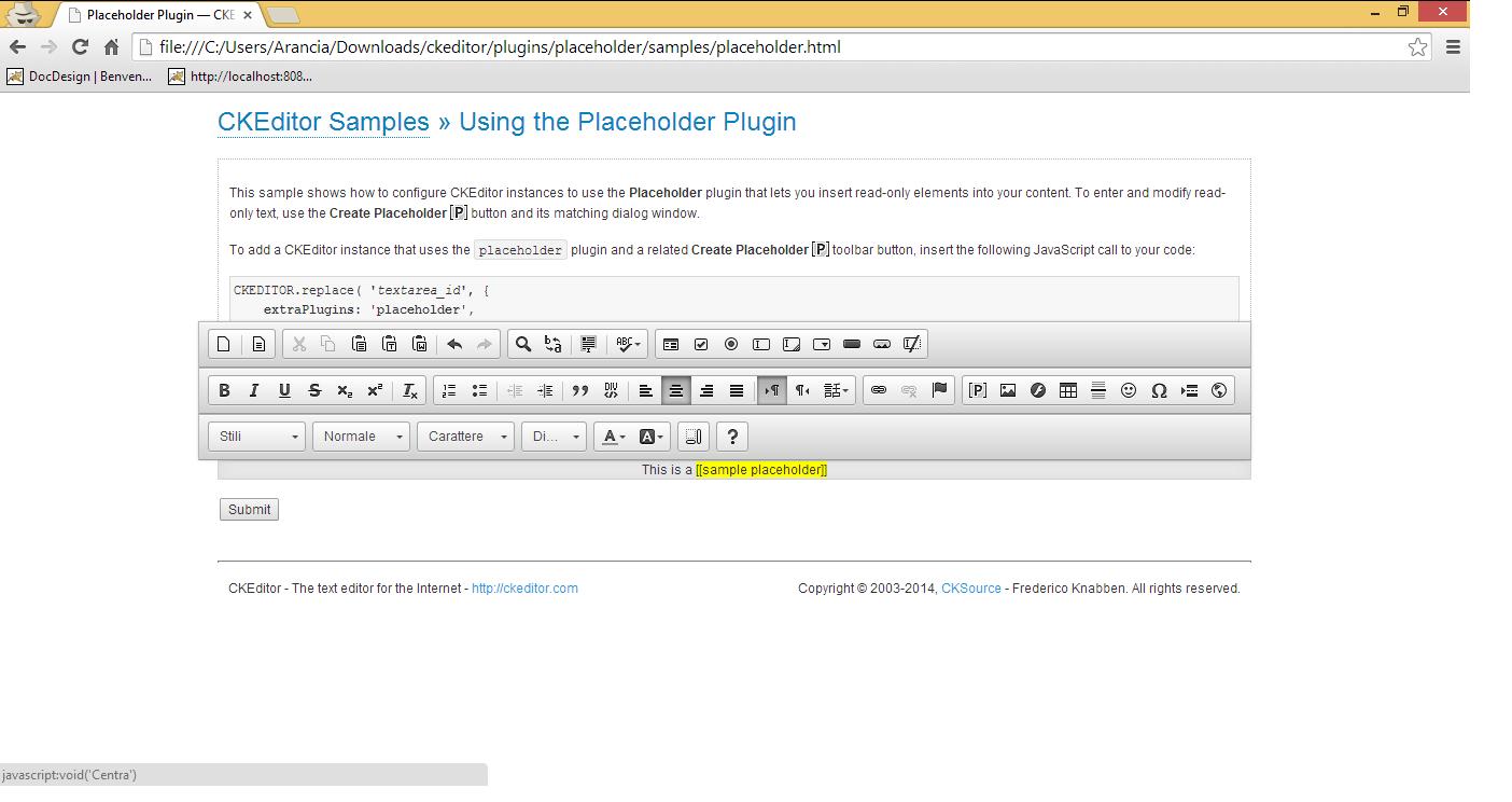 12083 (placeholder plugin - inline editor - text align break html of