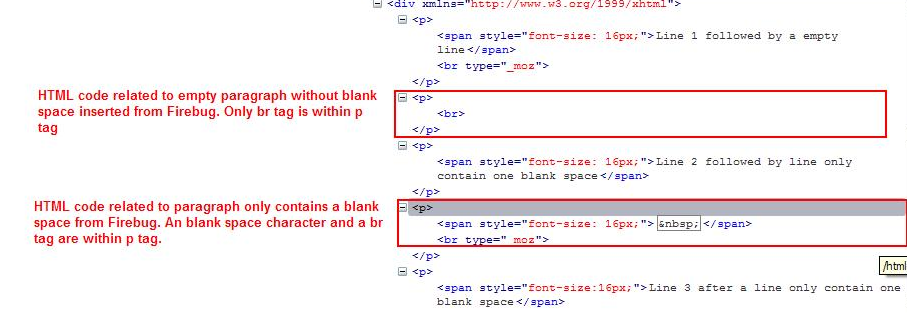 8604 redundant blank space in the html output for one empty