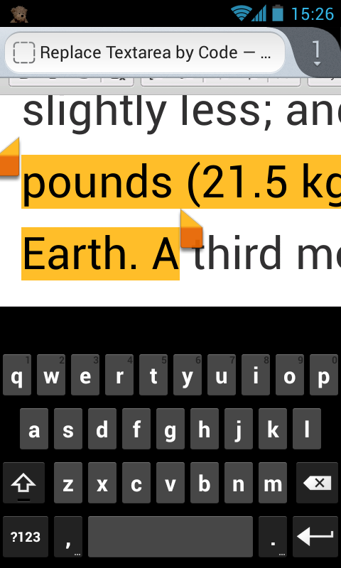 9736 ([Android] Problems with text selection) – CKEditor